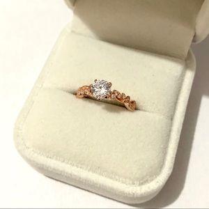 Jewelry - Size 6, Rose Gold Plated - Swarovski Crystal Stone